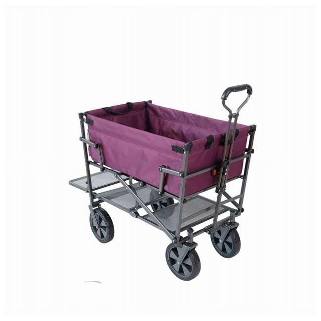 MAC-DD-109-PURPLE Mac Sports Double-Decker Yard Cart Wagon, Purple (2 Pack) 1