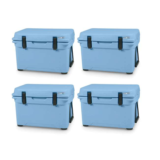 4 x ENG25-B Engel 25 High-Performance Roto-Molded Cooler, Arctic Blue (4 Pack)