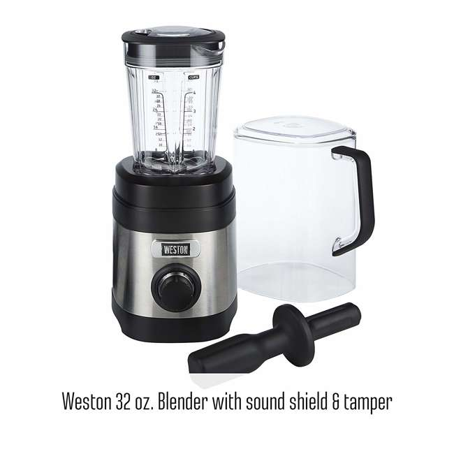 58917 + BLEND-BIBLE Weston 32 Oz Dishwasher Safe Kitchen Blender & Blender Bible 500 Recipe Book 3
