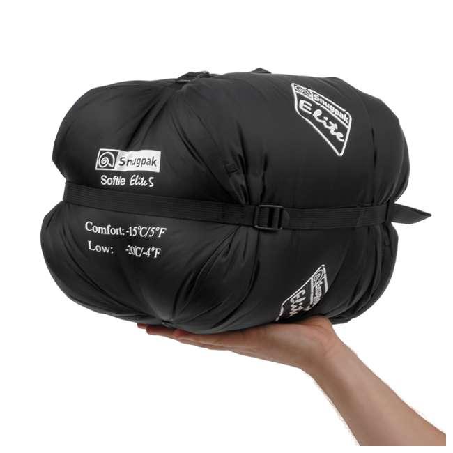 6 x SNUG92846 Snugpak Softie Elite 5 Warm Outdoor Camping Sleeping Bag, Black (6 Pack) 2