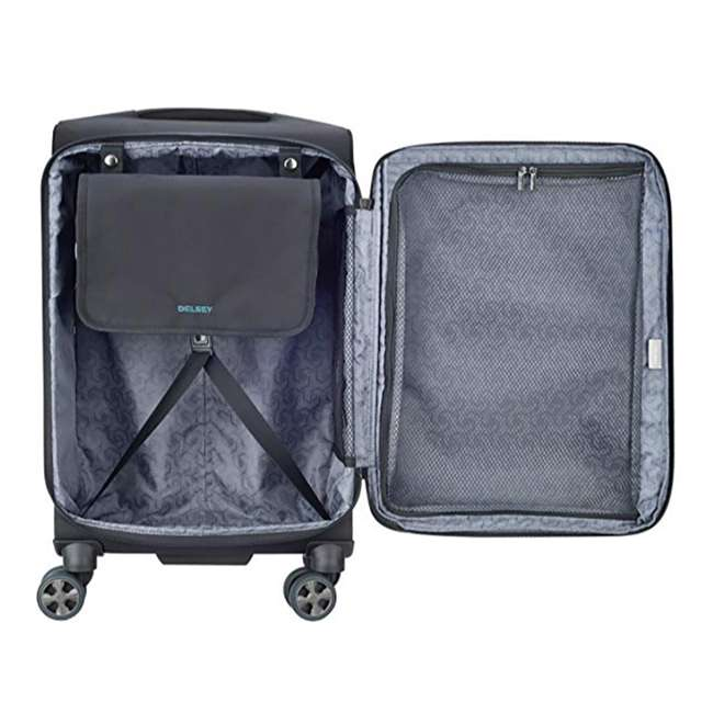 "40229180500 DELSEY Paris 21"" Expandable Spinner Upright Hyperglide Carry On Luggage, Black 2"