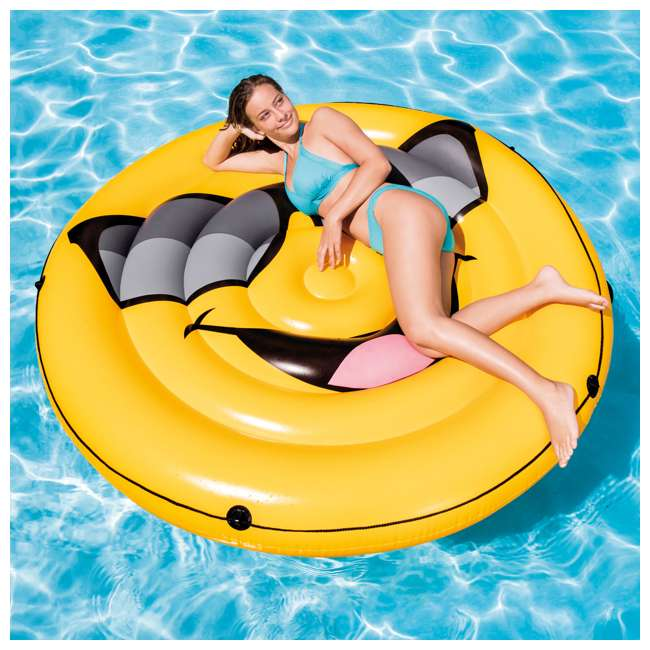 6 x 57254EP Intex Giant Inflatable Cool Guy Island Pool Float (6 Pack) 2