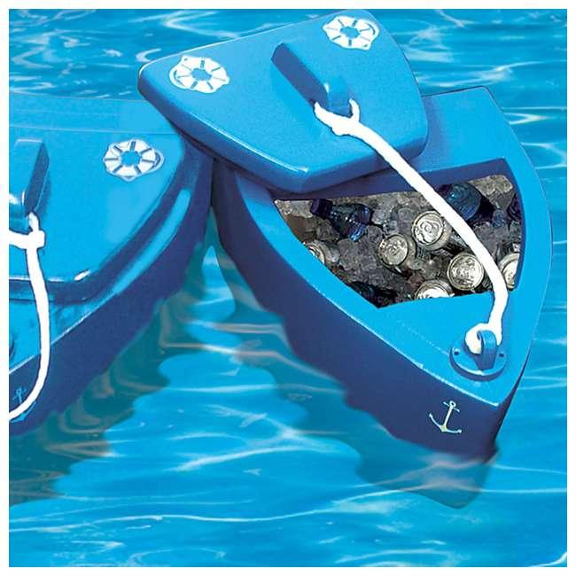 8841026 TRC Recreation Floating Super Soft Goodlife Drink Kooler for Pool/Hot Tub, Blue 4