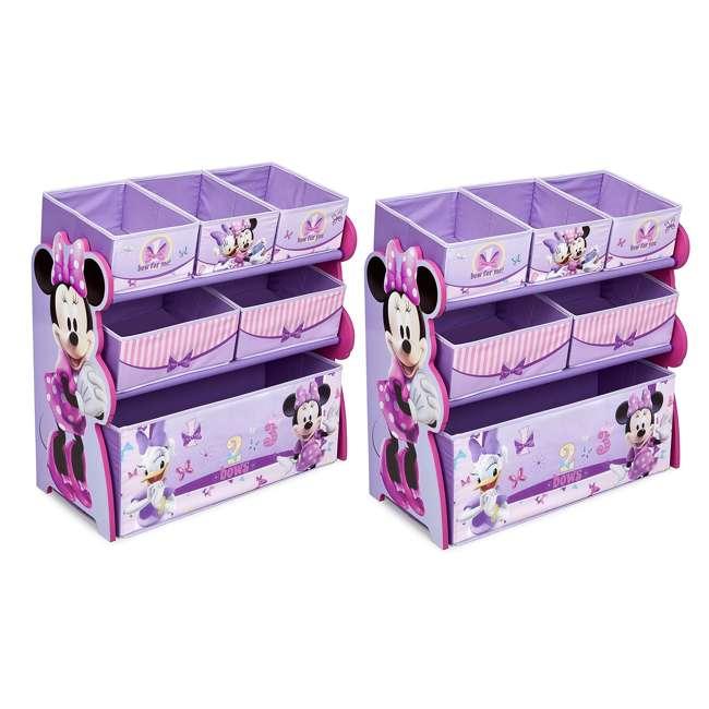 TB84848MN-999 Delta Children Minnie Mouse Wooden Multi Bin Toy Organizer, Pink (2 Pack)