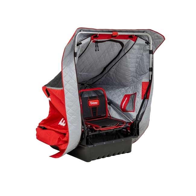 ESK-15350  Eskimo ESK-15350 Wide 1 Inferno Expandable Flip Style Ice Fishing Shelter, Red 1