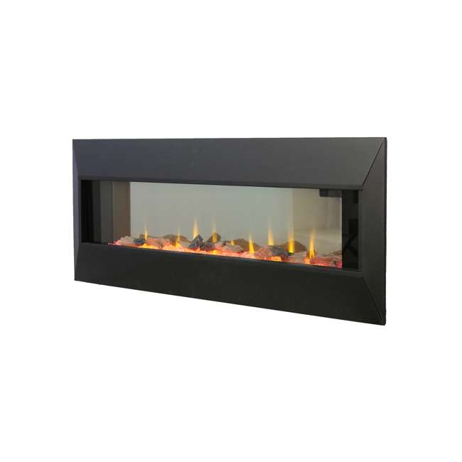 HW93233SMQR Lifesmart HW93233SMQR 42 Inch Infrared Wall Mount Electric Fireplace, Black 3