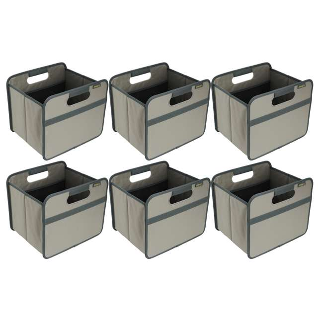 6 x A100028 Meori Classic Collection 4-Gallon Small Foldable Storage Box (6 Pack)