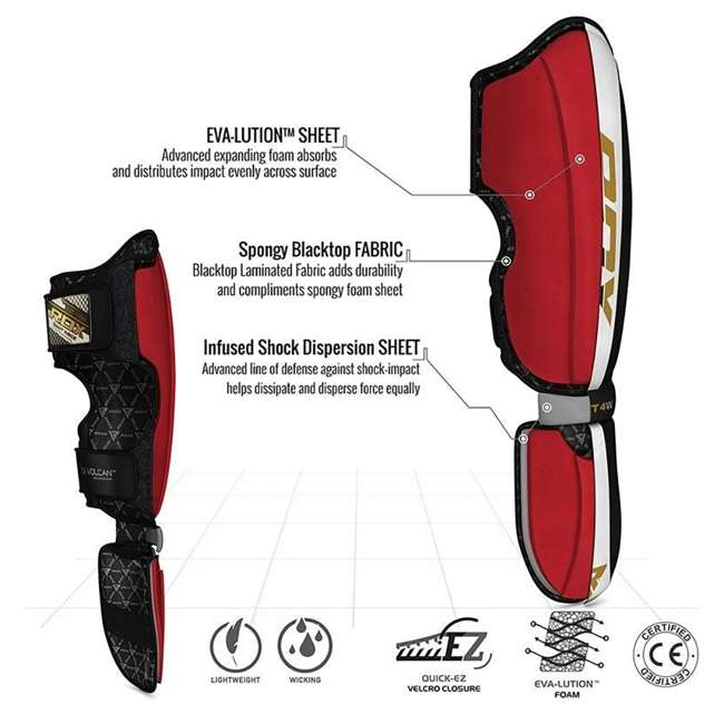 SGL-T4W-M RDX T4 Leather MMA Child Shin Instep Guards, Medium 5