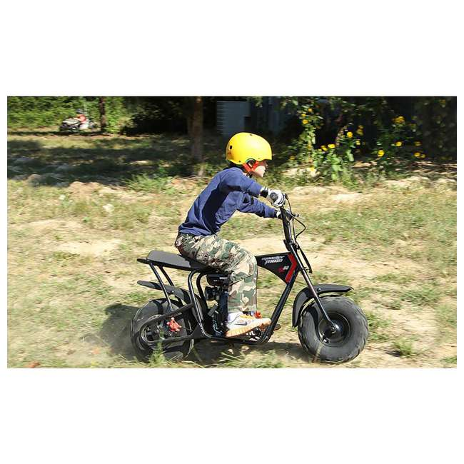 MM-B80B-BR Monster Moto 80cc Gas-Powered Off-Road Mini Dirt Bike  3