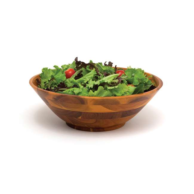 6 x LP-1224 Lipper International Acacia 12-Inch Wooden Salad Bowl (6 Pack) 2
