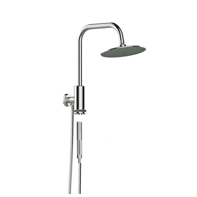 PULSE-1052-CH-U-C Pulse Aquarius Rain Shower Head with Hand Held Attachment, Chrome (For Parts)