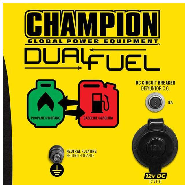 100263 Champion 3400-Watt Portable Dual Fuel Inverter Generator 4