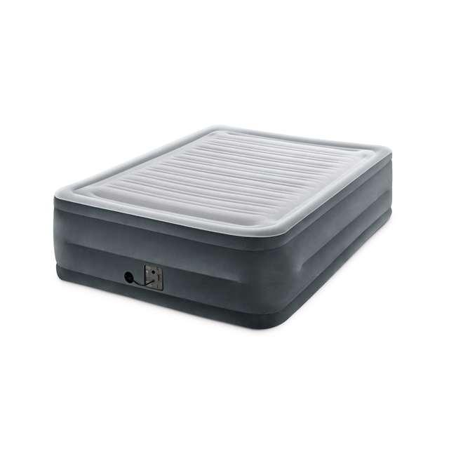 3 x 64417EP Intex High Rise Dura Beam Air Bed Mattress w/ Built-In Pump, Queen (3 Pack) 3