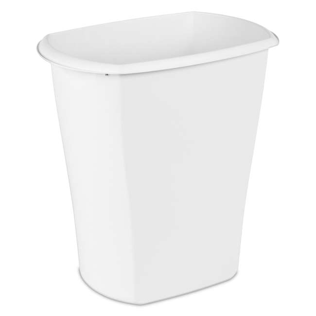 12 x 10538006 Sterilite 10538006 10 Gallon White Ultra Plastic Wastebasket Trash Can (12 Pack) 2