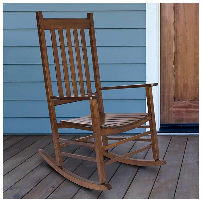 SHN-4332OA Shine Company Vermont Hardwood Outdoor Porch Patio Furniture Rocker Chair, Oak 4