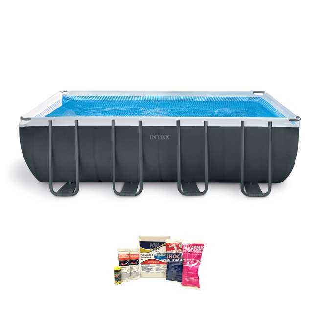 26355EH + QLC-42003 Intex Ultra 18-Foot XTR Frame Pool w/ Pump & Chemical Cleaning Kit
