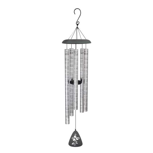 60247 Carson Home Accents 44 Inch Roses for Mother Sonnet Outdoor Metal Wind Chime