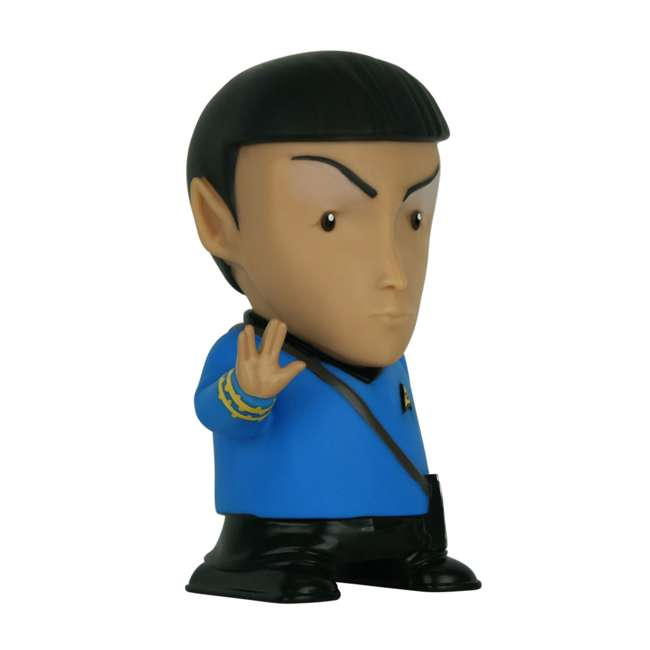 FT-SPK-U-B Fametek Star Trek Mr. Spock 6-Inch Wireless Bluetooth Speaker w/ 9 Quotes (Used) 2