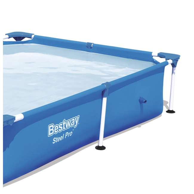 56545E-BW + 58382E-BW Bestway Above Ground Pool and Flowclear Filter Pump  5