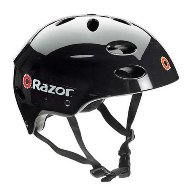 15130656 + 15130601 + 2 x 97778 Razor Pocket Mod Miniature Electric Scooters, 1 Red & 1 Black + Helmets 11