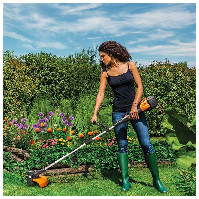 "WG184 WORX WG184 13"" 40V Lithium-Ion Cordless String Trimmer with Batteries & Charger 3"