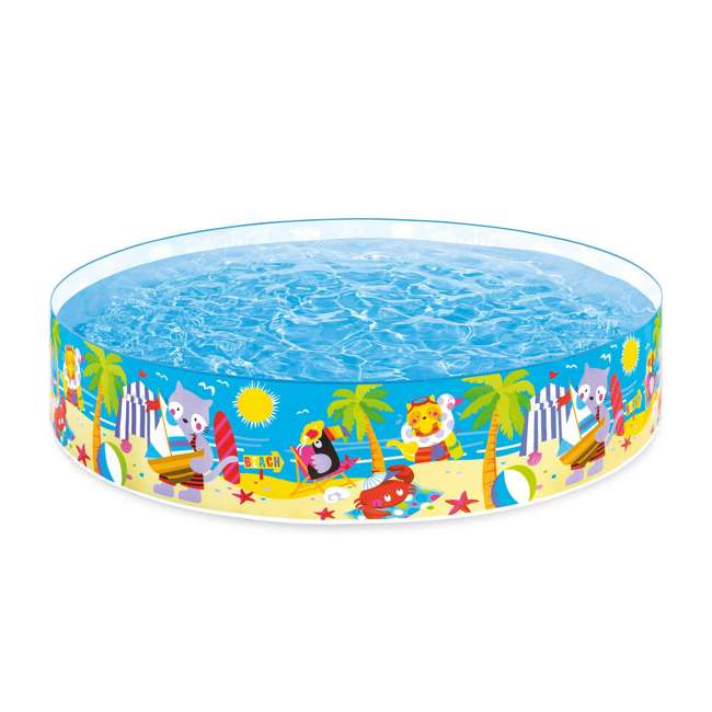 58457EP-U-A Intex Seahorse Kids 8 Foot Instant SnapSet Swimming Pool  (Open Box) (2 Pack)