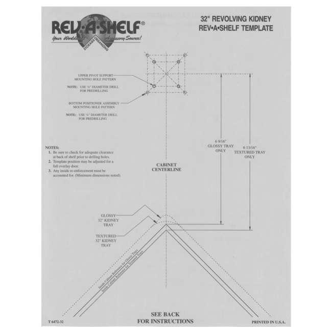 6472-32-11-52 Rev-A-Shelf 6472-32-11-52 32 Inch White Polymer Kidney Shaped 2 Shelf Lazy Susan 5