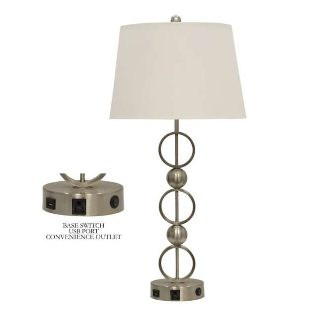 SC-L37591 Abode 84 Metal Table Lamp with Outlet, USB Port, and Base Switch 1