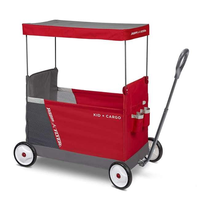 3965Z Radio Flyer Kid & Cargo 2 Seat Folding Wagon, Red