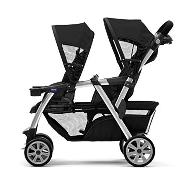 CHI-0807904302 + 2 x CHI-0607905222 Chicco Together Double Stroller and Rear Facing Car Seat, Coal (2 Pack) 4