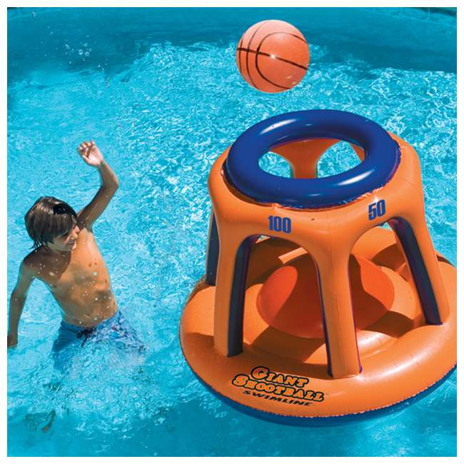 90700 + 90285 Swimline American Bald Eagle Riding Pool Float & Basketball Hoop Pool Toy 7