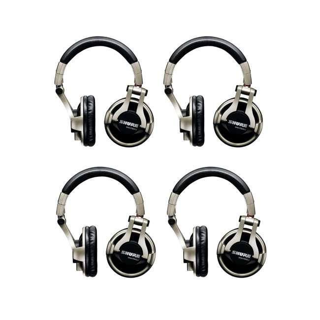 4 x SRH750DJ Shure Professional Studio Recording Headphones (4 Pack)