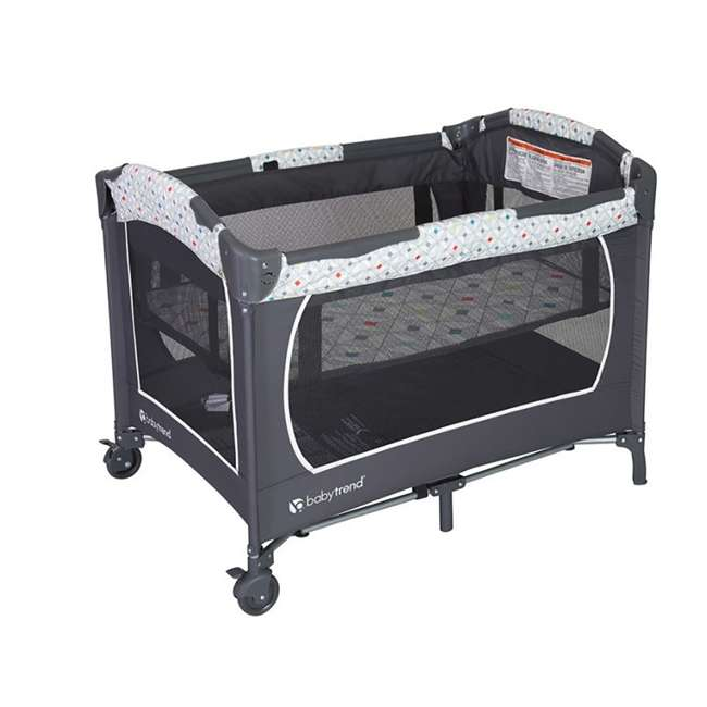 PY81A81I Baby Trend Lil Snooze Deluxe Nursery Center with Changing Table, Diamond Geo 2