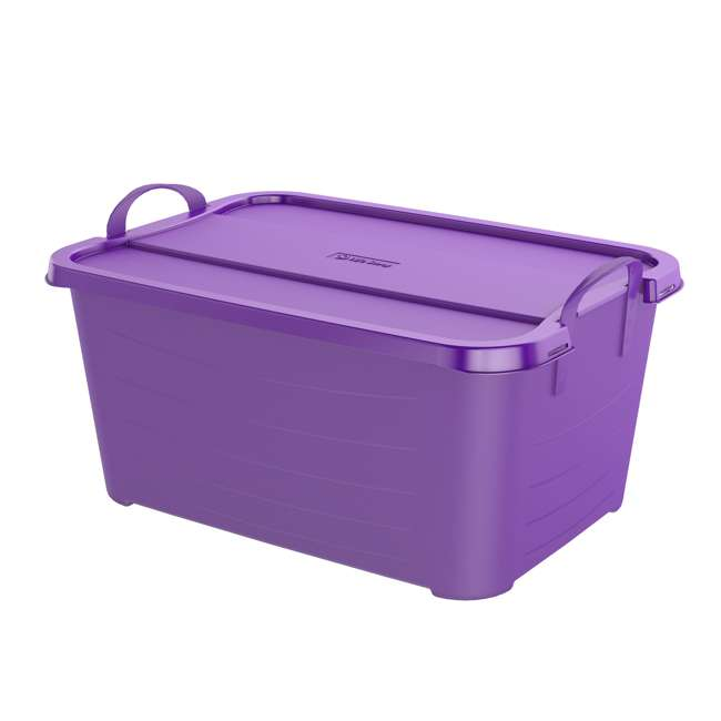 CS55PP-SOLID-U-A Life Story 55 Quart Locking Stackable Storage Container, Purple (Open Box)