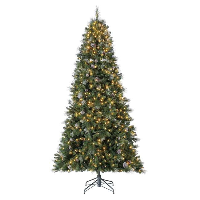 TG66M3ABAD00-U-A Home Heritage Lincoln 6.5' 400 Bulb Christmas Tree, Pine Cones/Glitter(Open Box)