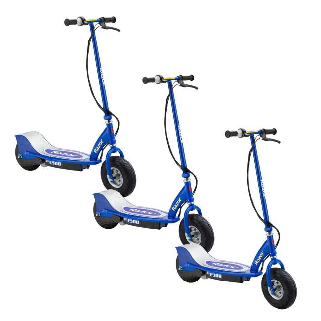 3 x 13113640 Razor E300 Electric Motorized Scooter, Blue (3 Pack)