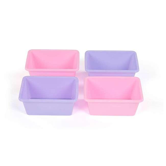 SM098 + SM111 Tot Tutors Plastic Storage Container Bins, Pink/Purple & Blue/Teal (Set of 8) 3