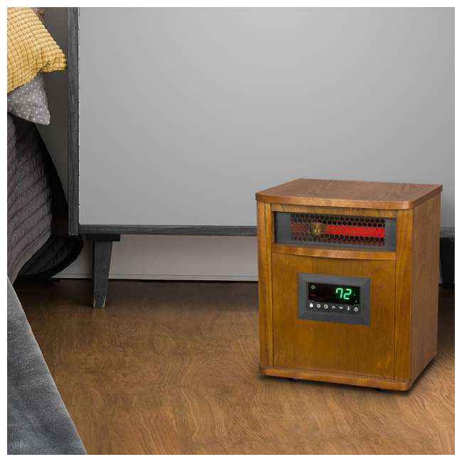 LS-ZCHT1097US Lifesmart 6 Element Quartz Mica Electric Space Heater w/ 3 Heat Settings  5