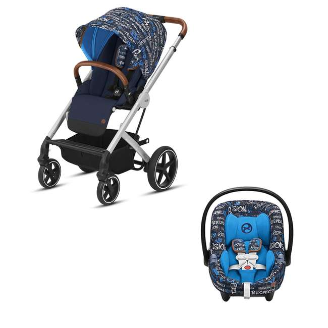 519000419 + 519001471 Cybex 519000419 Baby Stroller & Rear Facing Infant Car Seat w/ SafeLock
