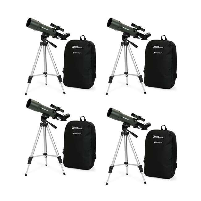 4 x 22005 [Copy 1] Celestron TravelScope 60AZ 60x 700mm Telescope, Silver (4 Pack)