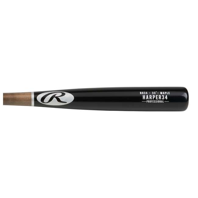 6 x BH34PL-33inch Rawlings Bryce Harper Maple Pro Label 33-Inch Wood Baseball Bat (-3 Drop) (6 Pack) 2