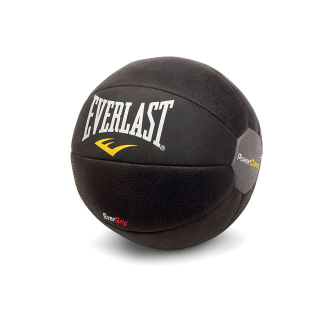 6512-EVERLAST Everlast PowerCore 9-Pound Fitness Medicine Ball, Black (2 Pack) 1