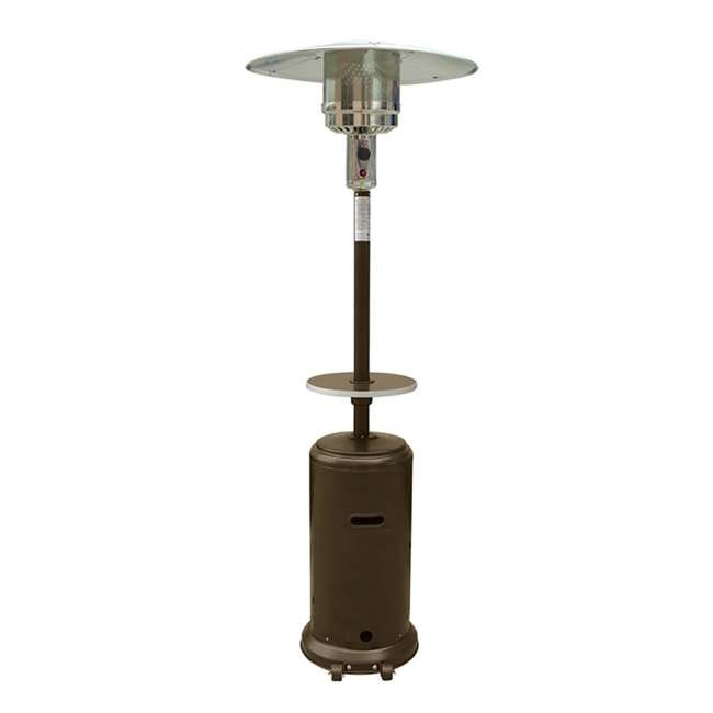 HLDS01-CGT-U-C AZ Patio Tall Propane Wheeled Patio Heater w/ Table, Hammered Bronze (For Parts)