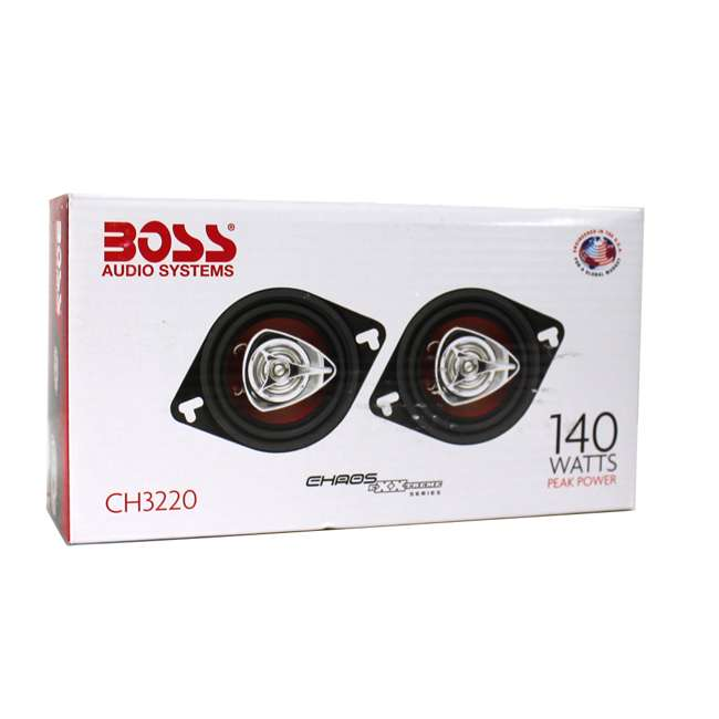 """CH3220 + CH4330 BOSS 3.5"""" 2-Way Set + 4""""x10"""" 3-Way Chaos Exxtreme Car Speakers 5"""