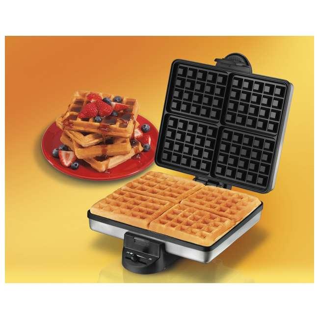 26016A Proctor Silex 4-Piece Belgian Waffle Maker | 26016A 3