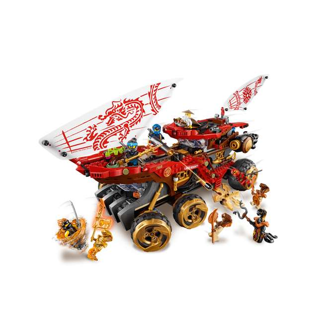 6250934 LEGO NINJAGO 70677 Land Bounty 1178 Piece Block Building Set w/ 9 Minifigures 4