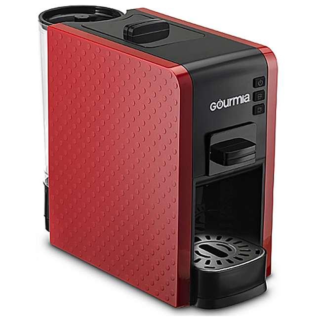 GCM7000R Gourmia GCM7000R Multi Capsule Espresso Coffee Machine with Pod Cartridges, Red