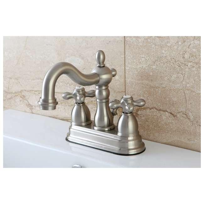 KB1608AX Kingston Brass KB1608AX 4 Inch Centerset Cross Bathroom Faucet, Brushed Nickel  1