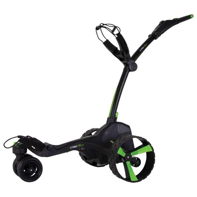 US-ZIPX5B MGI Zip X5 Electric Golf Push Cart Swivel Wheel Caddie with Accessories, Black 2