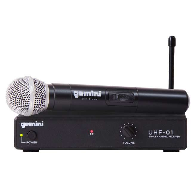 UHF-01M F1 Gemini Wireless Microphone System with Microphone Transmitter